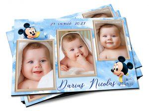 magneti de botez cu 3 poze