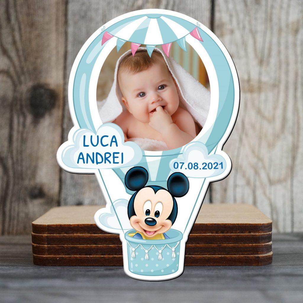 magneti personalizati botez Mickey Mouse