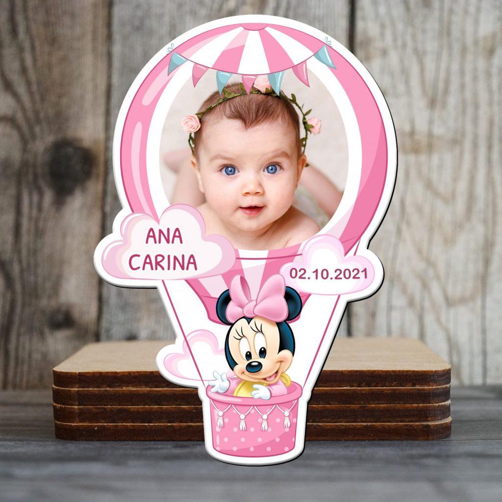 magneti personalizati botez Minnie Mouse