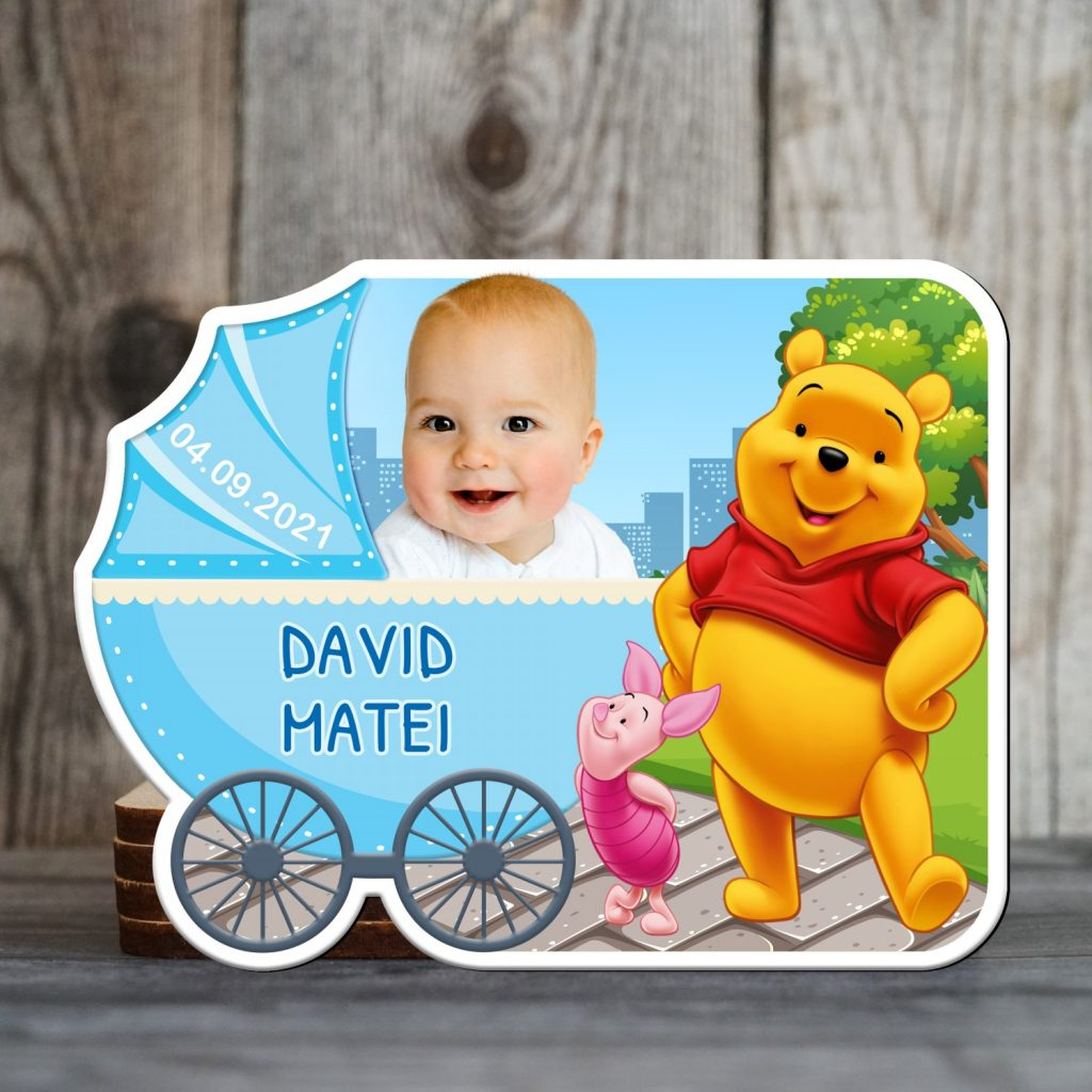 marturii botez magnetice baieti Winnie the Pooh
